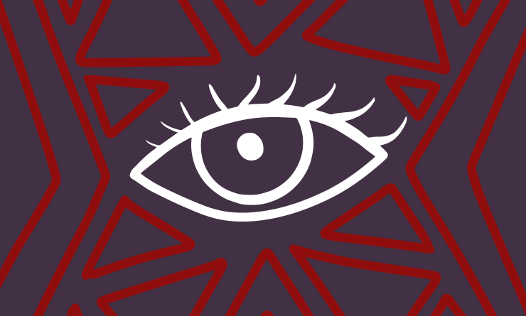 Image of eye with tribal pattern surrounding